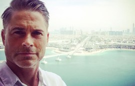Hollywood Actor Rob Lowe In Dubai