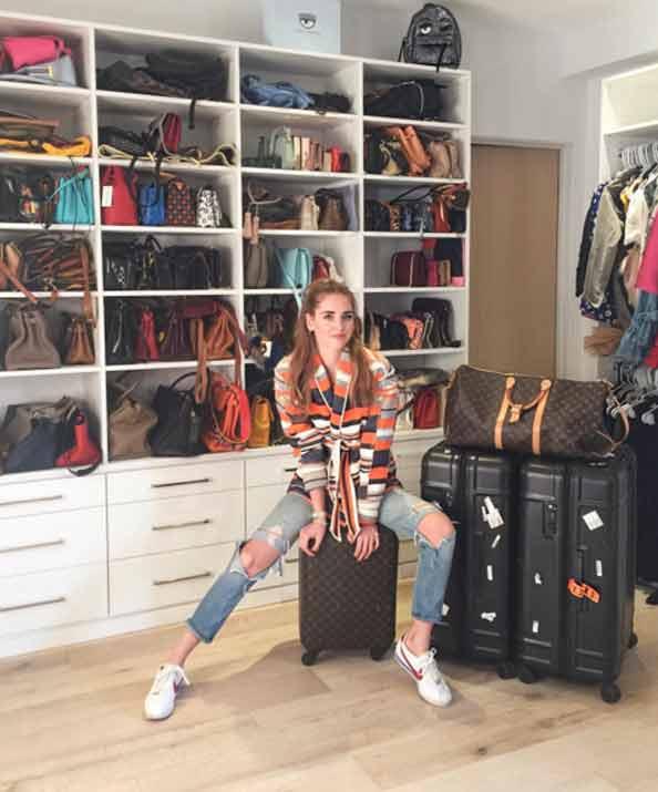 Chiara Ferragni at home