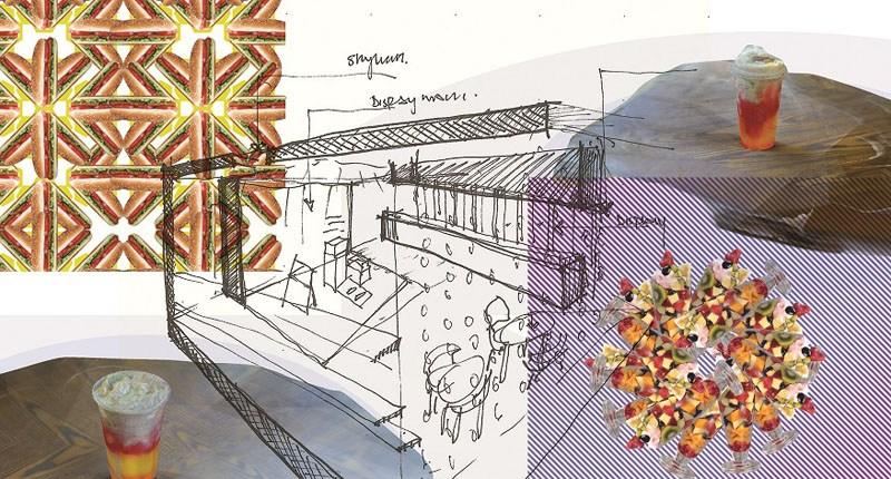 Abwab_UAE_The-Future-Cafeteria_Sketch-Collage