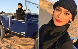 Miss Universe Embraces Traditional Dress During Her Dubai Desert Adventure