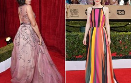 Middle Eastern Designers Pull Out All The Stops At SAG Awards