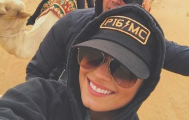 Demi Lovato Headed Into The Dubai Desert For A Camel Trek