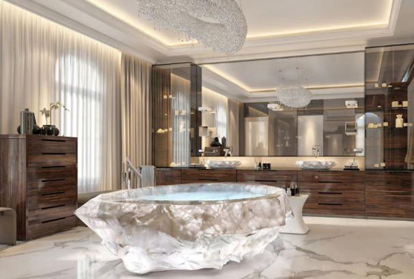 dubai's xxii carat villas will feature dhs3.7 million crystal bathtubs