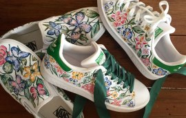 This Dubai-Based Artist Will Paint The Most Beautiful Designs On Your Sneakers