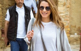 Queen Rania Puts On Her Hiking Boots And Walks The Jordan Trail