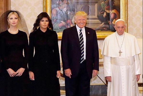 donald melania ivanka trump pope