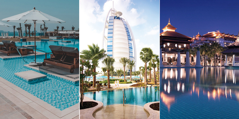 10 of the best beach clubs and hotel pools in dubai for Hotels with private pool in dubai