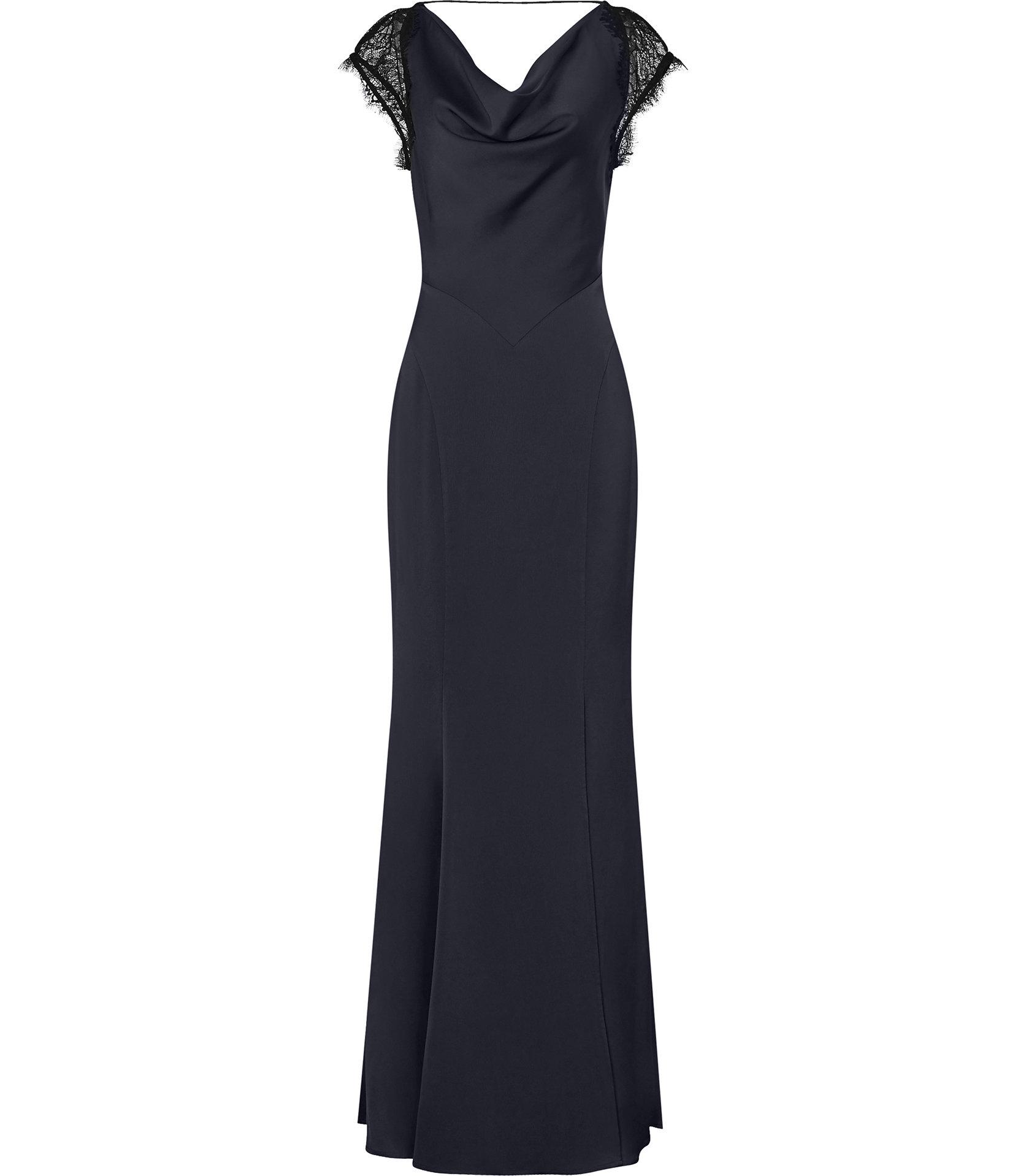 Victoria Navy Maxi Dress, Dhs1,350.