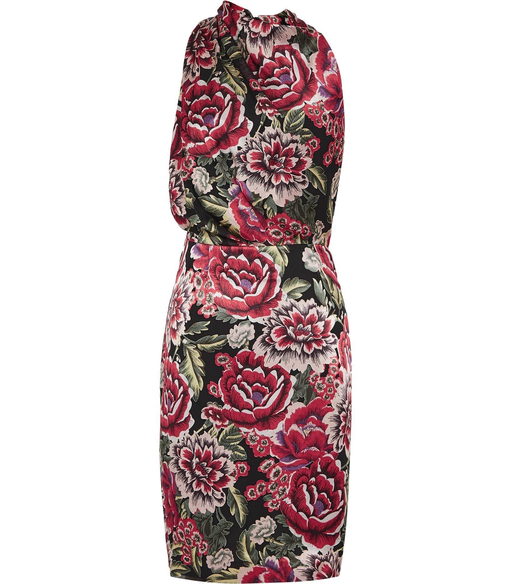 Xavi Drape Neck Burnout Detail Dress, Dhs995.