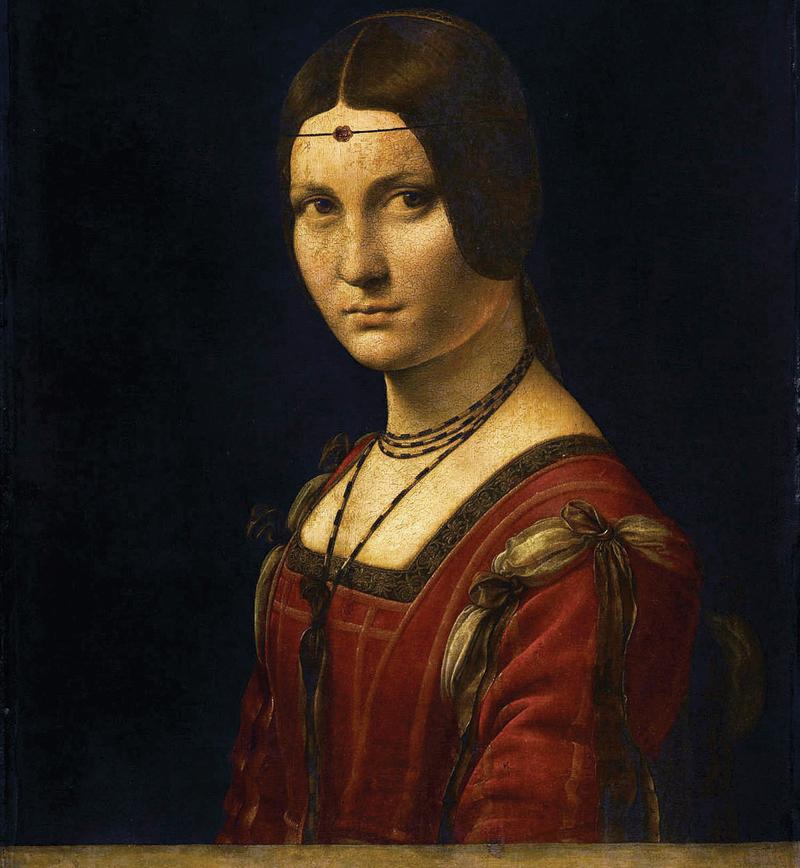 La Belle Ferronniere, Leonardo da Vinci.