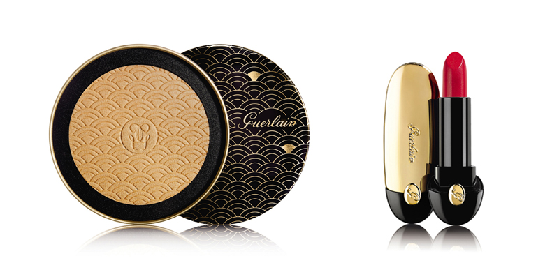 Guerlain Terracotta Christmas Powder Gold Light, Dhs255, and Rouge G Lipstick, Dhs240.