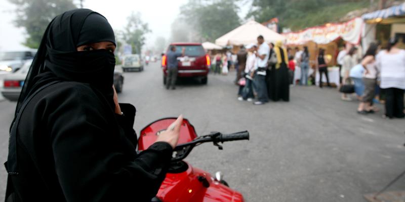 saudi woman motorbike