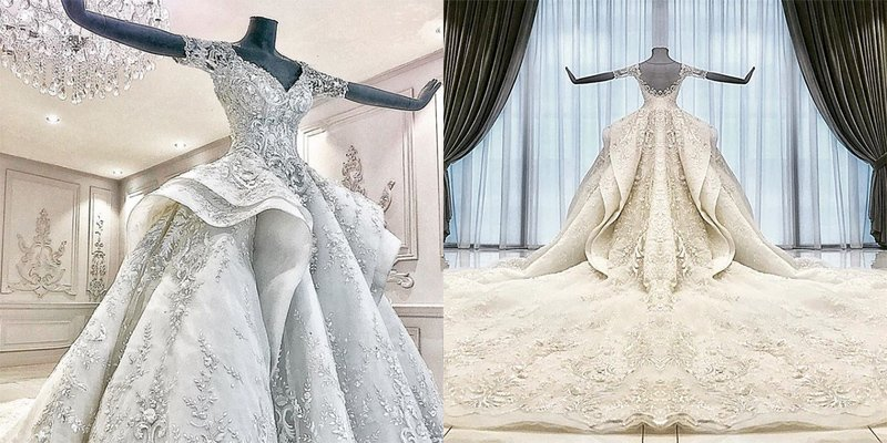This Michael Cinco bridal gown needs to be seen to be believed