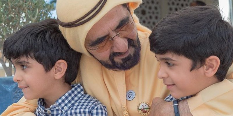 Sheikh Mohammed and Sheikh Hamdan spent the weekend at