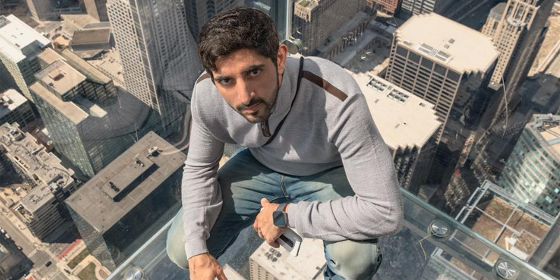 Sheikh Hamdan's travels have taken him to Chicago and North Carolina