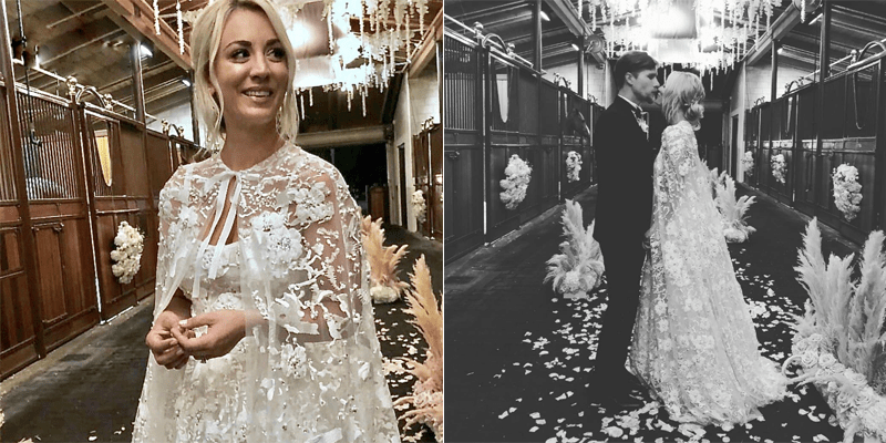 Big Bang Theory Star Kaley Cuoco Wore Reem Acra On Her Wedding Day