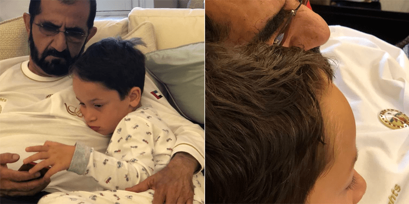 Princess Haya shared the sweetest photo of little Sheikh Zayed