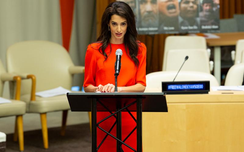 Amal Clooney Rohingya Muslim journalists