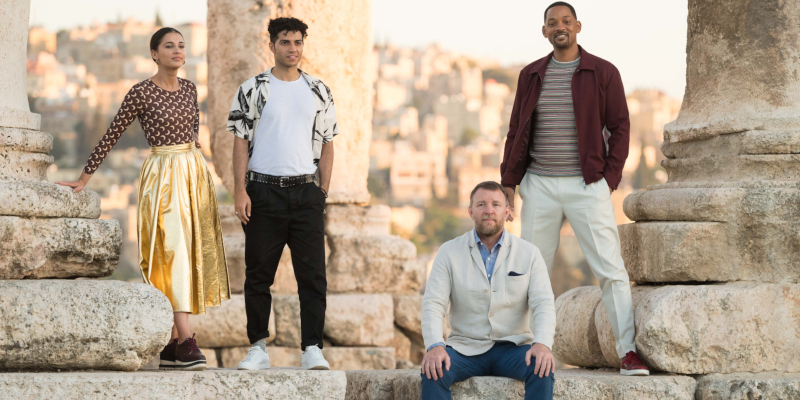 This is what the cast of Aladdin were up to in Jordan