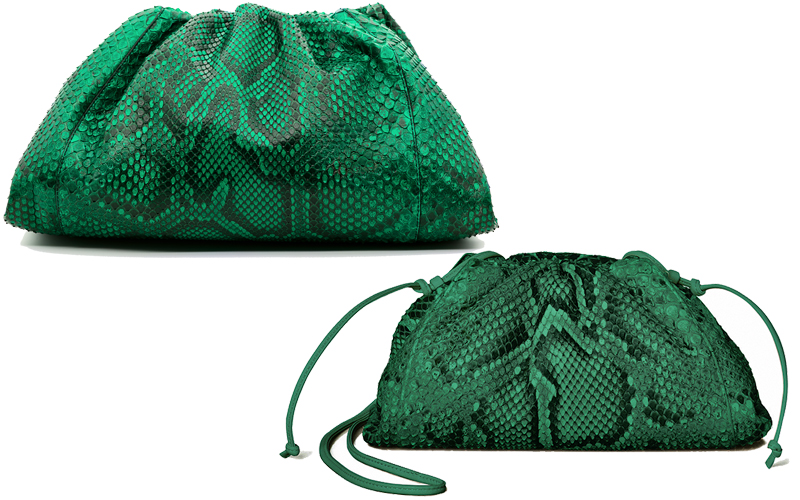 bottega veneta pouch bag python middle east