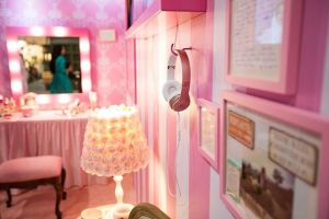 In the Pink Bedroom - Wall 2 and 3