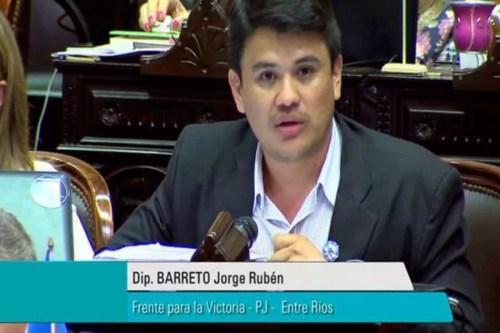 Jorge Barreto visitó Oro Verde rumbo a las PASO