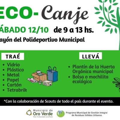 12 de octubre: Eco Canje en Oro Verde