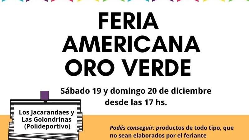 Ahora si! Feria Americana en Oro Verde