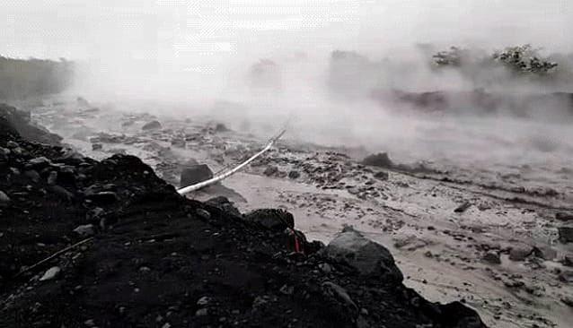 Descenso de lahar