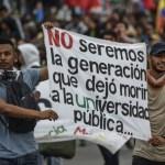 manifestaciones estudiantes Colombia