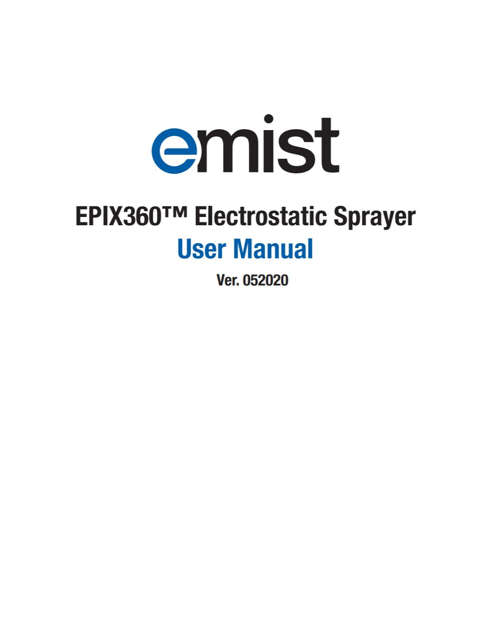 EMist EPIX360 User Manual PDF image thumbnail