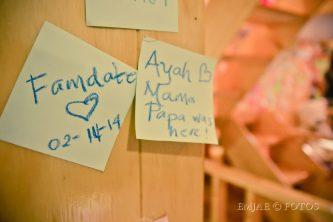 post it notes at cafe namoo