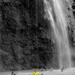 signature pose at tumalog falls oslob cebu