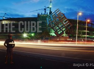 Featured Light Trails - SM Seaside Cube