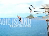 Magic Island Cliff Diving Boracay Island