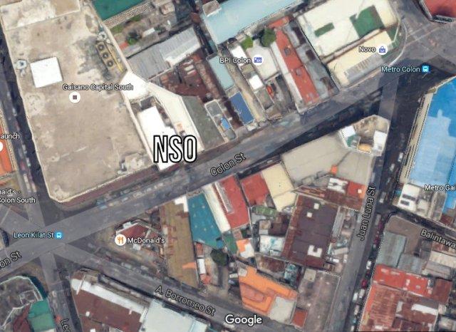 Map NSO Cebu Gaisano Capital Colon Street