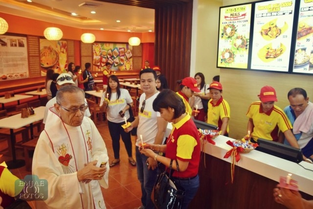 Priest Blessing Chicken Deli Bacolod