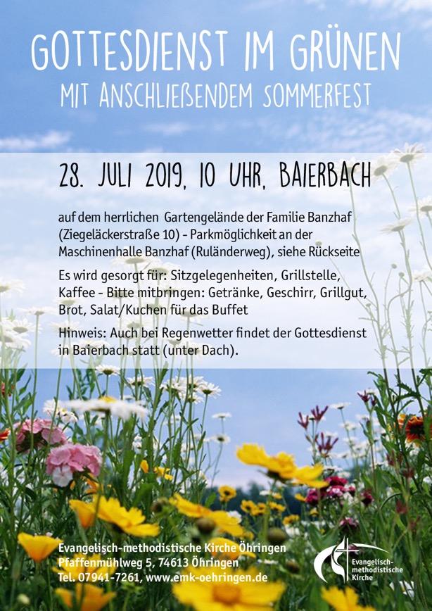 Flyer Sommerfest 2019