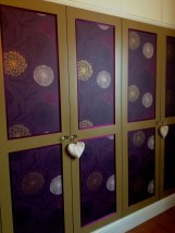 New wardrobes with papered panels.