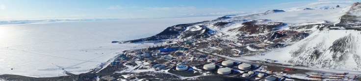 McMurdo Station view from Observation Hill.