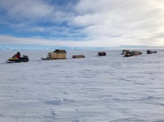 Caravan moving from Camp 20 to Subglacial Lake Whillans.