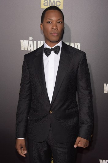 """NEW YORK, NY - OCTOBER 09: Actor Corey Hawkins attends the season six premiere of """"The Walking Dead"""" at Madison Square Garden on October 9, 2015 in New York City. (Photo by Theo Wargo/Getty Images)"""