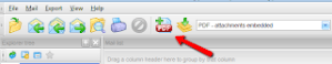 Screenshot showing toolbar for email conversion software.