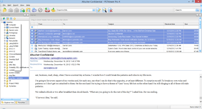 Screen shot of msg-to-eml conversion software.