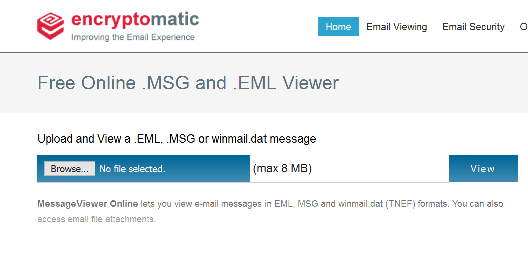 online msg viewer |  Eml Viewer | Working with  EML Email Files