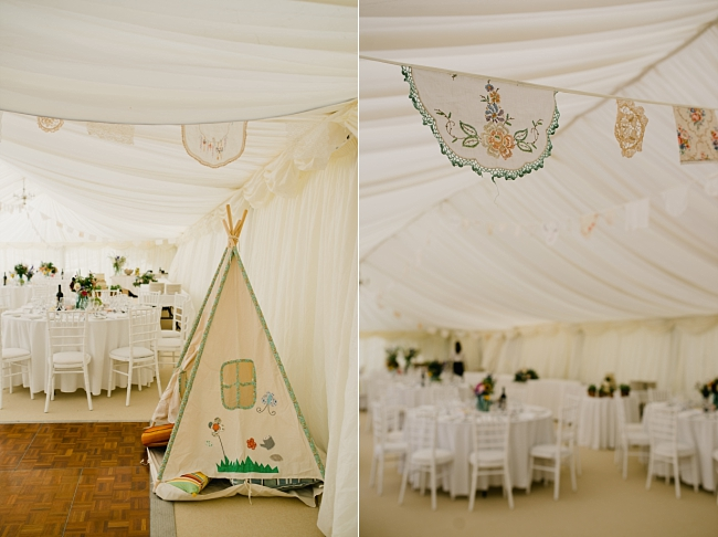 mini tipi at wedding