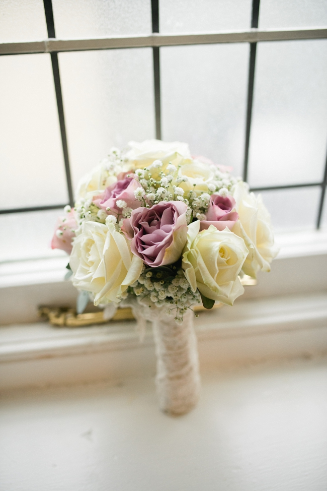 bouquet in window