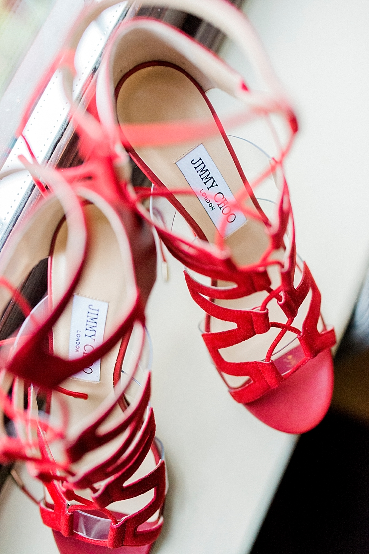 red jimmy choos