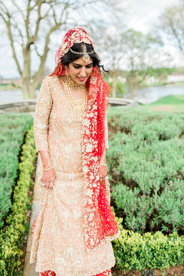 asian bride at the mere