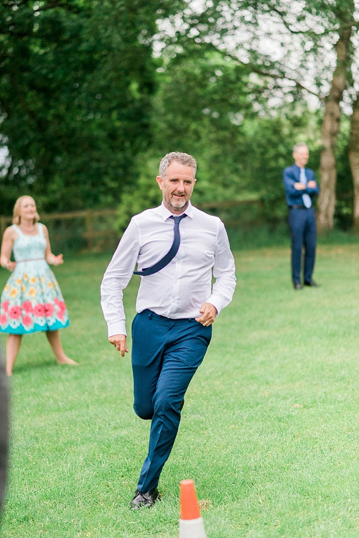 running wedding guest